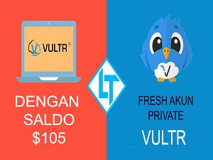 Akun Fresh Vultr Dengan Saldo $105