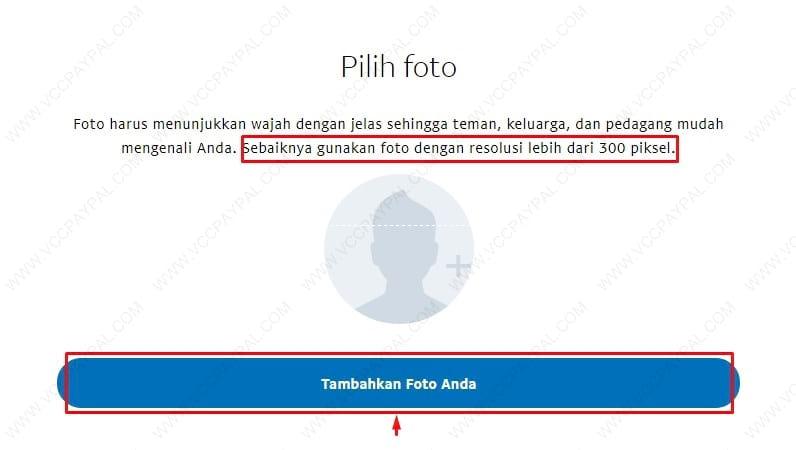 Cara mengganti foto profil paypal